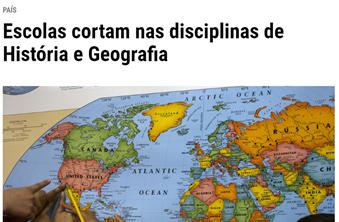 Escolas cortam nas disciplinas de História e Geografia