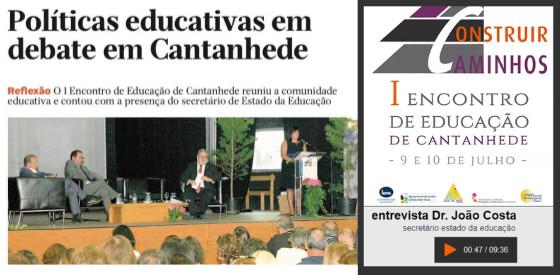"""I Encontro de Educação em Cantanhede – """"Construir Caminhos"""""""