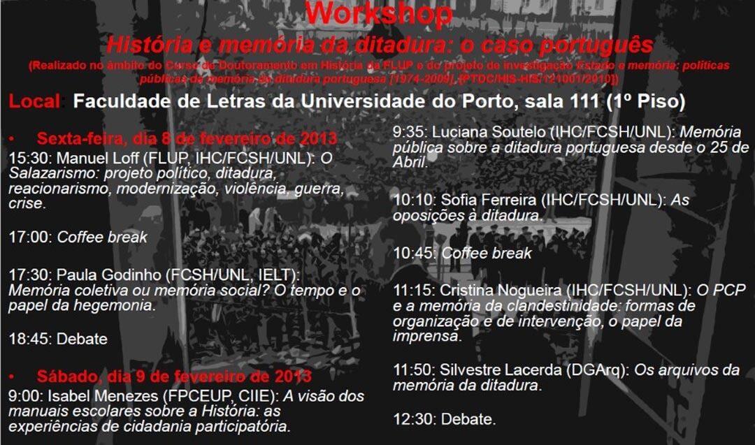Conversas à Margem – História e memória da ditadura; o caso português